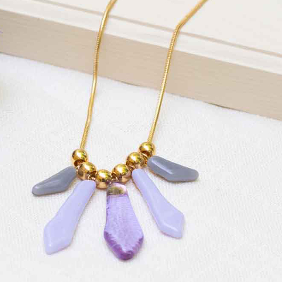 pendant with gold chain